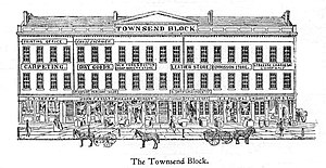Jerry Rescue - Townsend Block in Syracuse, New York in Clinton Square - The Jerry Rescue Building constructed in 1843 - Syracuse Herald