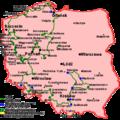 Szlak cysterski na mapie Polski.png