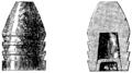 T3- d491 - Fig. 356 et 357. — Balle à culot et coupe verticale de cette balle.png