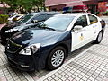 TCPD Mitsubishi Galant Grunder Police Car Parked at Taipei Municipal Xi Song Senior High School 20131207.jpg