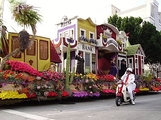 "Rose Parade - Float and ""White Suiter"" volunteer"