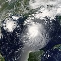 Tropical Storm Bonnie near peak intensity on August 11