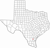 Location of Alice in Texas