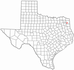 Location of Avinger, Texas