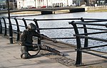 Taking the strain - The Linesman sculpture on City Quay - geograph.org.uk - 1725963.jpg