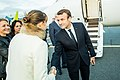 Tallinn Digital Summit. Airport arrivals HoSG Emmanuel Macron (37374146841).jpg