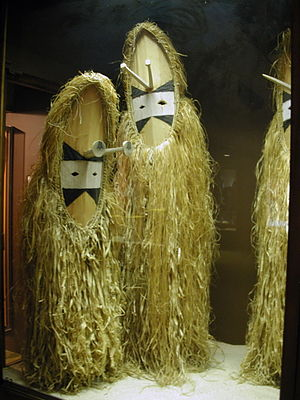 Solomon Islands dance - A dance costume from the island of Vanikoro.