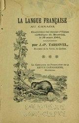 Jules-Paul Tardivel: La Langue française au Canada