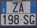 Targa automobilistica Italia 1999 ZA 198•SG.png