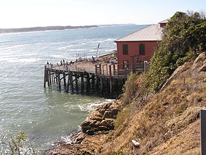 Illawarra Steam Navigation Company - The wharf at Tathra, which was erected through funding provided by local farmers and the Illawarra Steam Navigation Company.