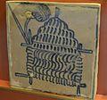 Taulell emblema del gremi de barreters, Museu de Ceràmica de València.JPG
