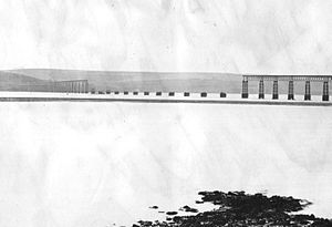 Tay Bridge disaster - The bridge after its collapse.