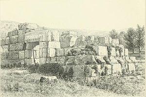 Tayasir - Sketch of el-Kusr in Tayasir, 1882