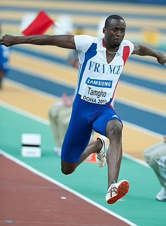 2010 IAAF World Indoor Championships - Teddy Tamgho, France's only medallist, set a world indoor record in the triple jump.