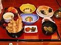 Tendon dinner at an Okinawan hotel by Blue Lotus.jpg