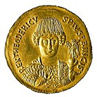 Coin depicting Theodoric the Great (475-526) of Ostrogothic Kingdom