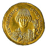 Coin depicting Theoderic the Great (475-526)