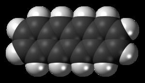 Tetracene - Image: Tetracene molecule spacefill