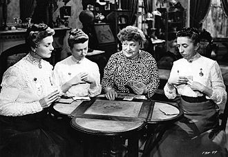 Moyna Macgill - Moyna MacGill, Irene Ryan, Florence Bates and Margaret Hamilton, in Texas, Brooklyn and Heaven (1948)