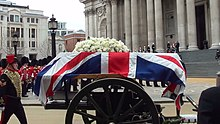 Thatcher coffin arrives at St Paul's Cathedral.jpg