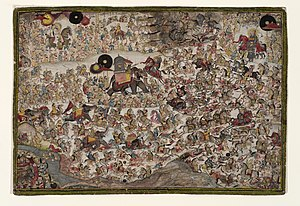 Chokha (painter) - Image: The Battle of Haldighati by Chokha