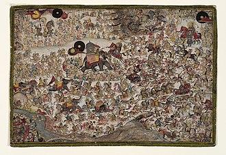 Battle of Haldighati - Image: The Battle of Haldighati by Chokha