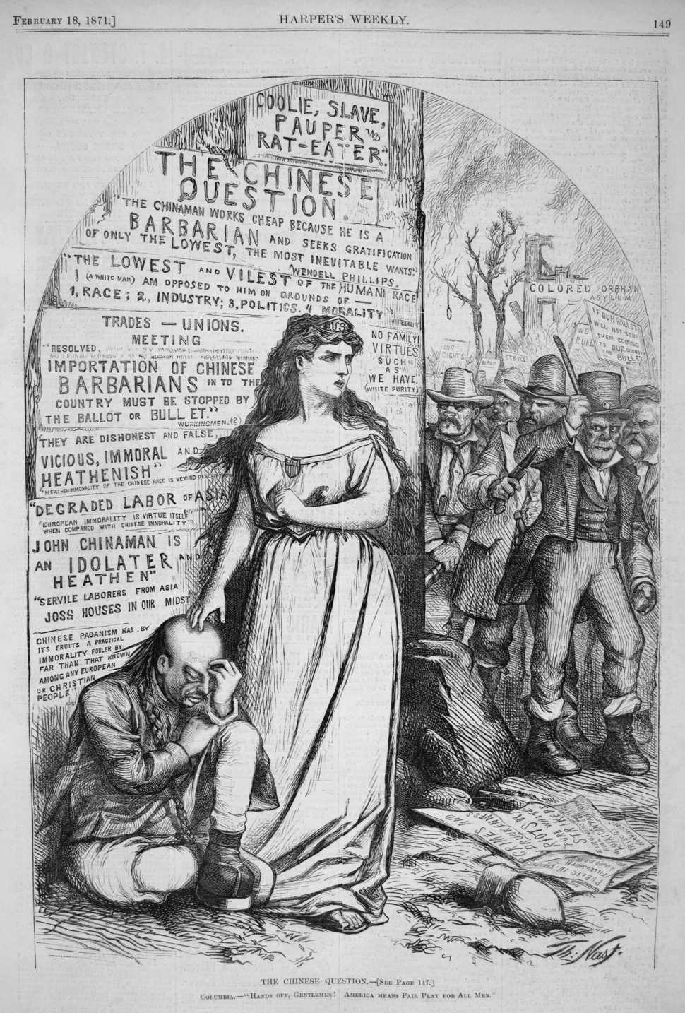 The Chinese Question (February 1871), by Thomas Nast