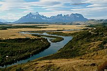 The Cordillera del Paine and Serrano River at Sunset.jpg