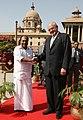 The Defence Minister of Brazil, Mr. Nelson Jobim being received by the Defence Minister, Shri A. K. Antony, in New Delhi on March 11, 2010.jpg