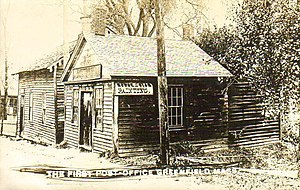 Greenfield, Massachusetts - The first post office circa 1910