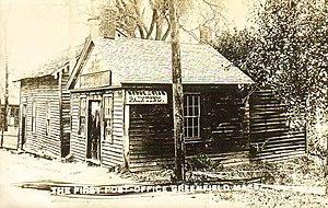 Greenfield, Massachusetts - The first post office circa 1910