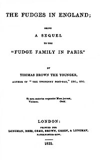 The Fudge Family in England cover