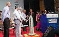 The Governor of Tamil Nadu, Shri Banwarilal Purohit lighting the lamp to inaugurate the International Rail Coach Expo 2018, in Chennai.JPG