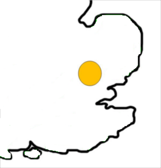 The Hundred Parishes - Approximate location and scale of the Hundred Parishes within the East of England.