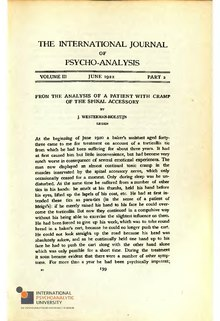 The International Journal of Psycho-Analysis III 1922 2.djvu