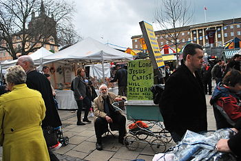 Loc Market Place, Norwich It was so busy down ...