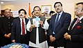 The Minister of State for Culture and Tourism (Independent Charge), Dr. Mahesh Sharma launching the presentation of Pre-Loaded Free SIM Cards for foreign tourists arriving in India on e-visa, in New Delhi.jpg