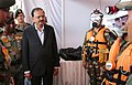 The Minister of State for Defence, Dr. Subhash Ramrao Bhamre going around the Static Display demonstrated as part of multi-agency exercise 'Pralay Sahayam' conducted at Hussain Sagar Lake, Hyderabad on September 23, 2017.jpg