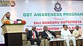 The Minister of State for Minority Affairs (Independent Charge) and Parliamentary Affairs, Shri Mukhtar Abbas Naqvi addressing at the 'GST awareness meeting', in Hyderabad.jpg