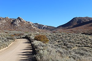 Mineral Mountains (Utah) - The Pass Road goes through Soldier Pass in the Mineral Mountains.