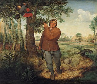 <i>The Peasant and the Nest Robber</i> Painting by Pieter Bruegel the Elder
