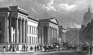 Aldersgate - General Post Office, late 1820s.
