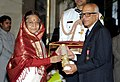 The President, Smt. Pratibha Devisingh Patil presenting the Padma Bhushan Award to Dr. Madabusi Santanam Raghunathan, at an Investiture Ceremony-II, at Rashtrapati Bhavan, in New Delhi on April 04, 2012.jpg
