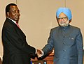 The Prime Minister, Dr. Manmohan Singh meeting the President of Chad, Mr. Idriss Deby, in Addis Ababa, Ethiopia on May 25, 2011.jpg