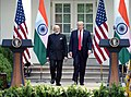 The Prime Minister, Shri Narendra Modi and the President of United States of America (USA), Mr. Donald Trump at the Joint Press Statement, at White House, in Washington DC, USA on June 26, 2017 (5).jpg