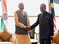 The Prime Minister, Shri Narendra Modi meeting the Prime Minister of Malaysia, Dr. Mahathir Bin Mohamad, in Kuala Lumpur, Malaysia on May 31, 2018.JPG