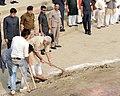 The Prime Minister, Shri Narendra Modi participating in Shramdaan as part of Swachhta Abhiyaan, at Assi Ghat, in Varanasi on November 08, 2014.jpg