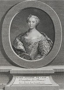 The Princess Marie Josèphe of Saxony, Dauphine of France by Johan Georg Wille.jpg