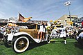 The Ramblin Wreck leads the Georgia Tech football team in their Homecoming game..jpg