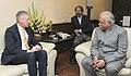 The Secretary of State for Foreign Trade, Belgium, Mr. Pieter De Cream meeting the Union Minister for Civil Aviation, Shri Ashok Gajapathi Raju Pusapati, in New Delhi on February 15, 2016 (1).jpg